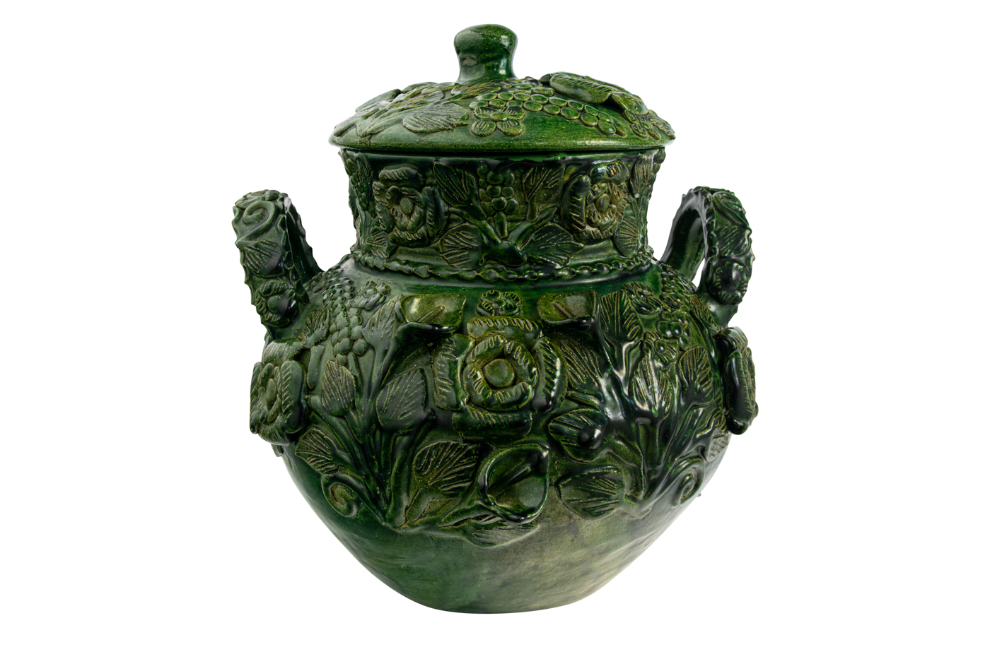 Jarrón Ceramica Mexicana Verde