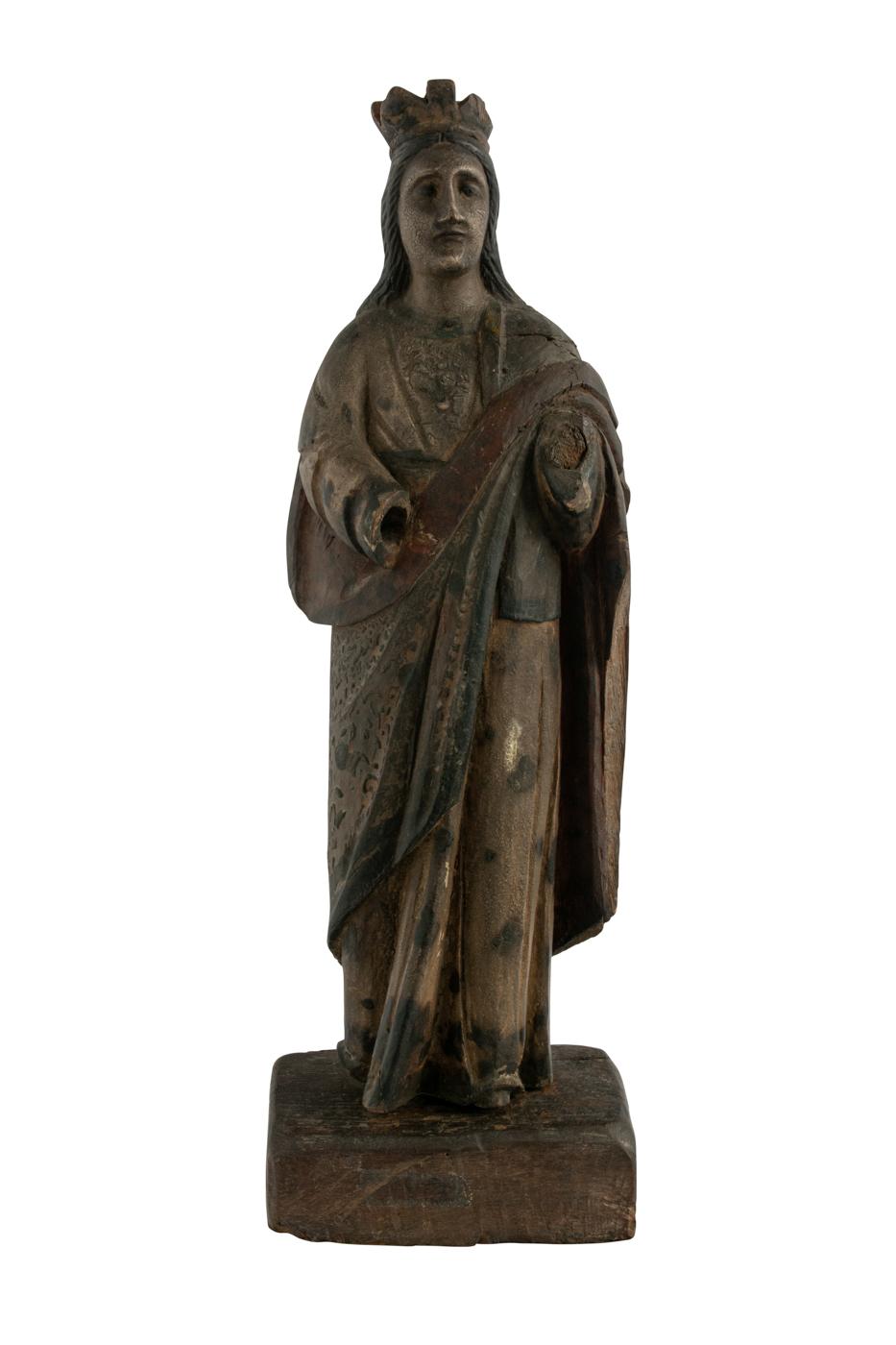 Escultura Sagrada de Filipinas en madera Señora de Antipolio