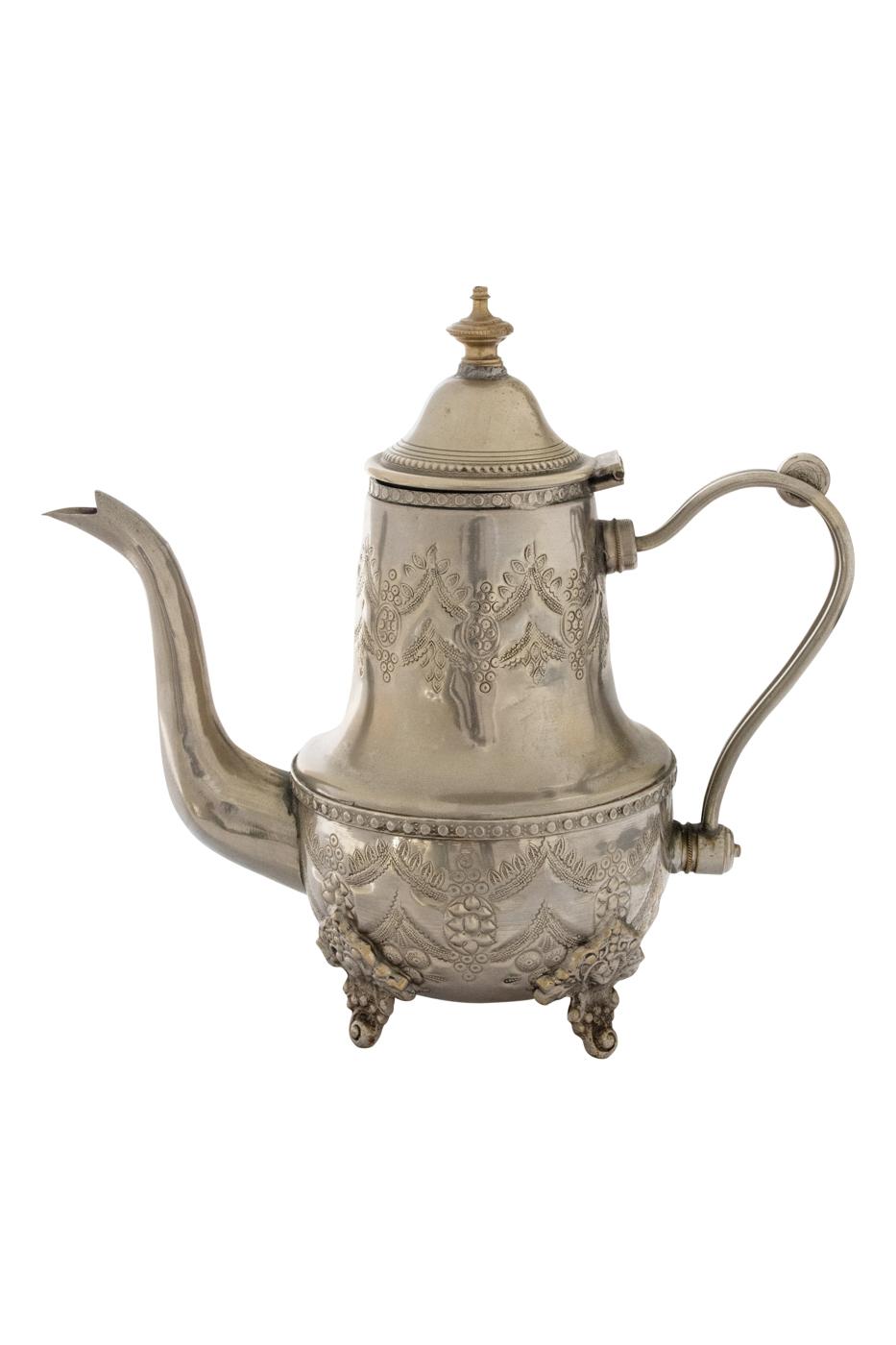 Tetera Marroquí en bronce blanco