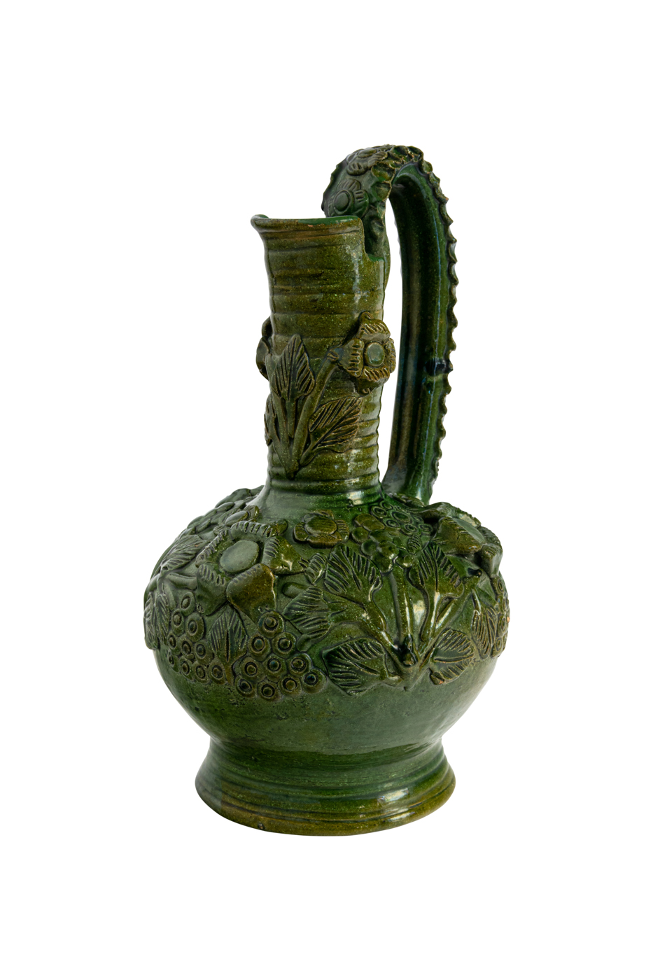 Mexican Green Ceramic Pitcher