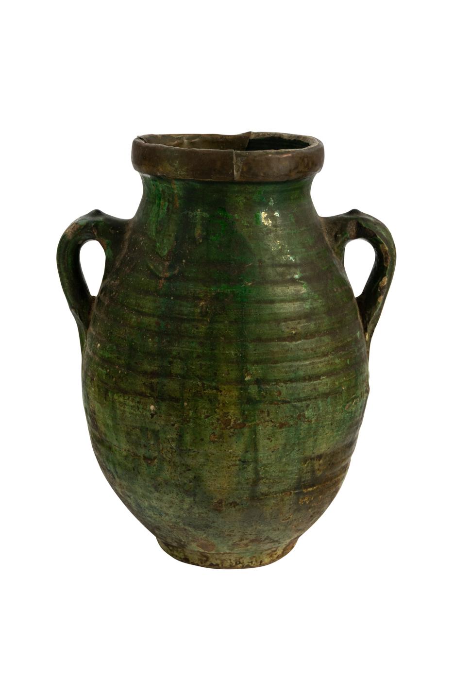 Jarrón Marroquí en cerámica con dos asas