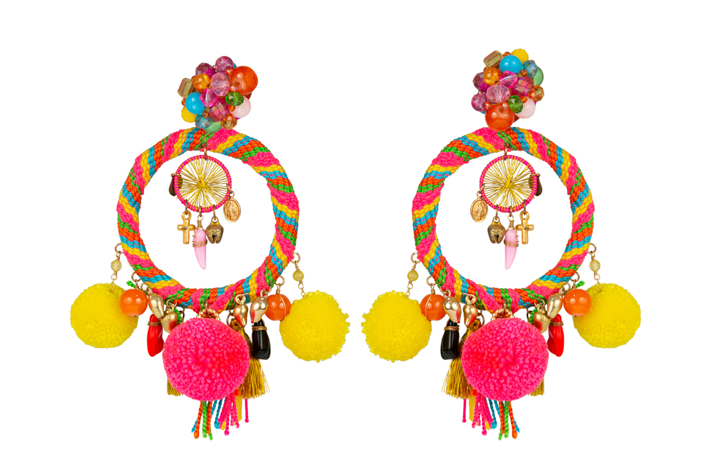 Traditional Wayuu Multicolor Earrings