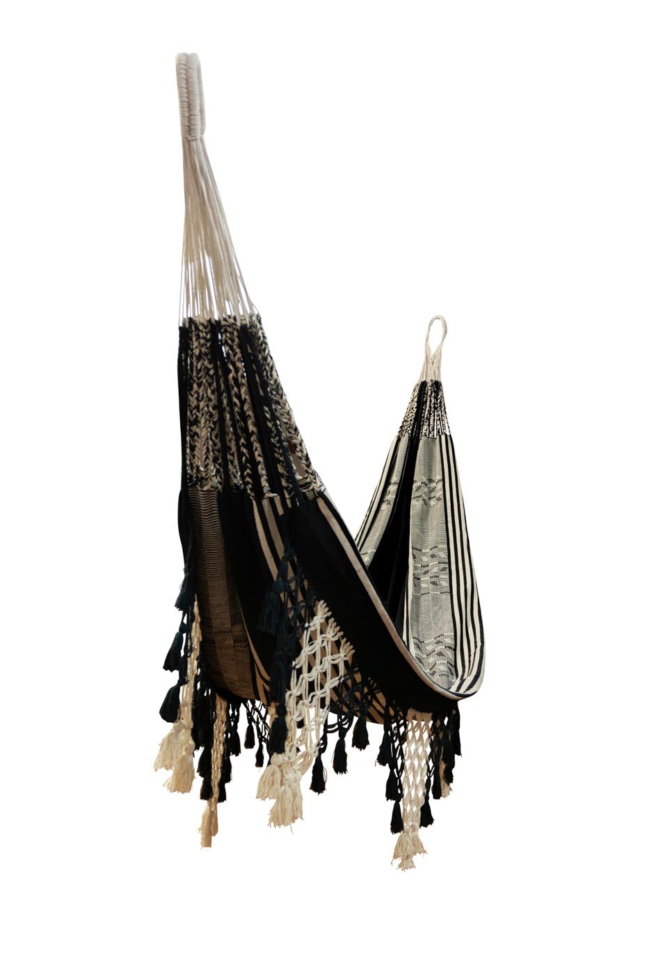 Colombian Hammock in black cotton