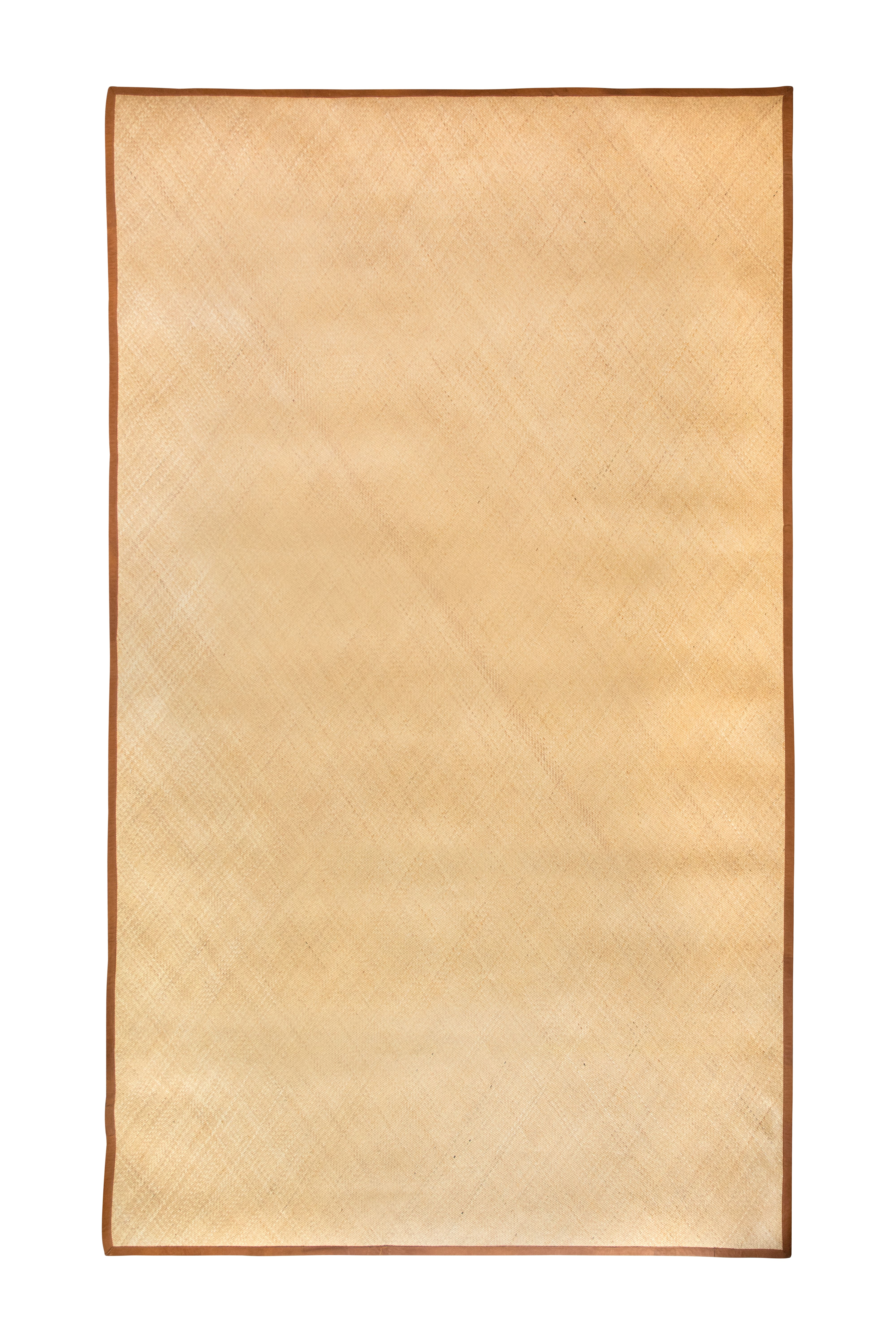 Natural fibre and leather mat