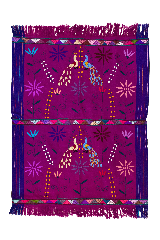 Tela Mexicana en telar de cintura purpura