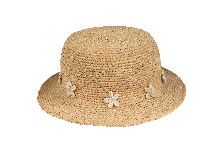 Sombrero Calceta de Plátano Caracoles