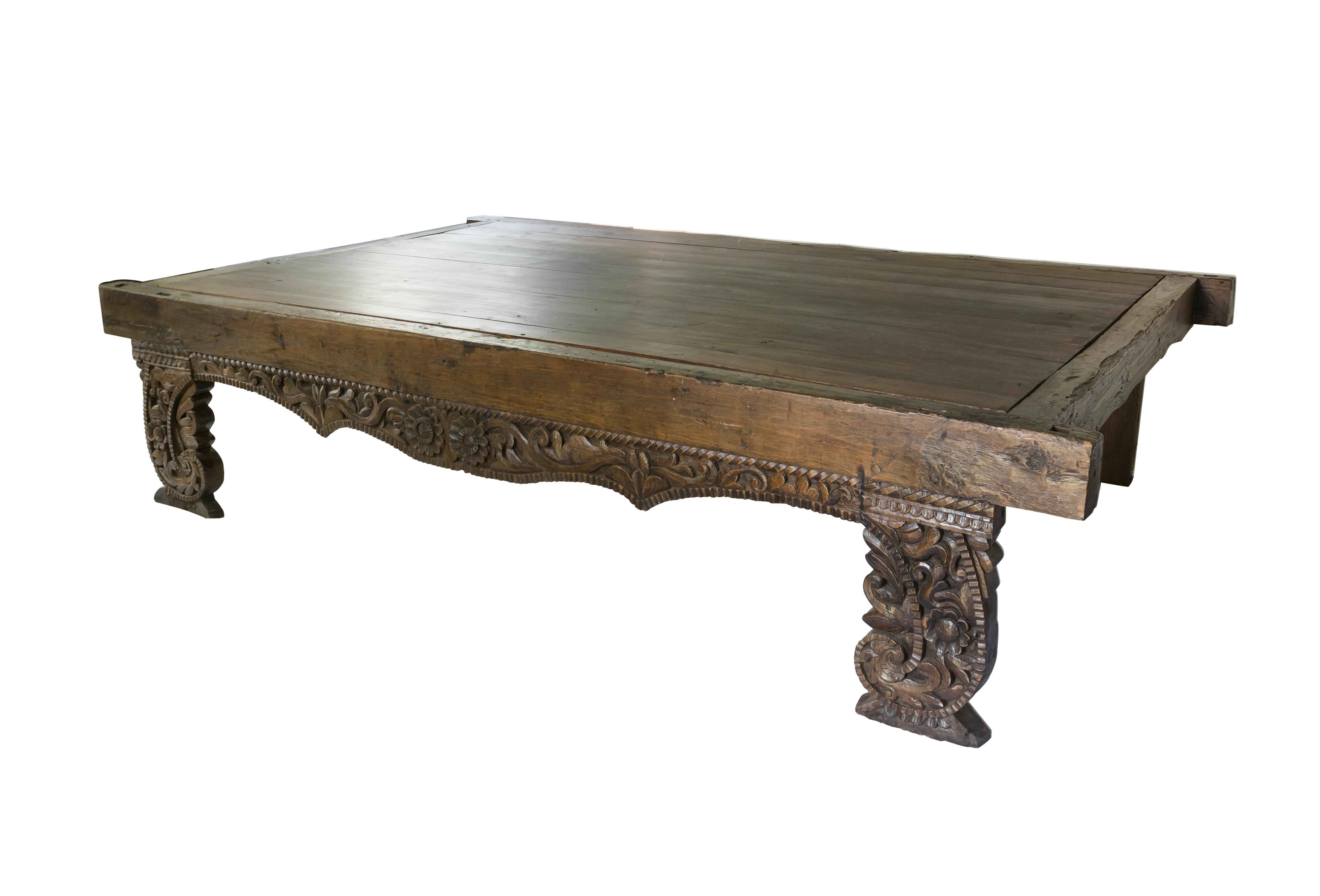 Mesa de centro en madera teka Big