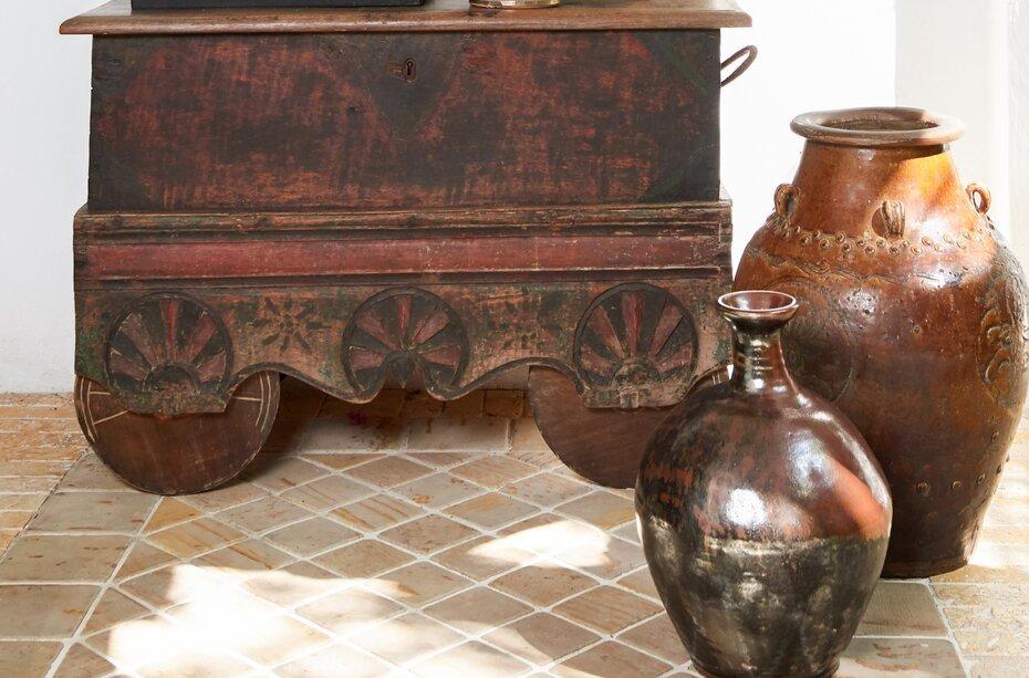 Baúl antiguo Java en madera