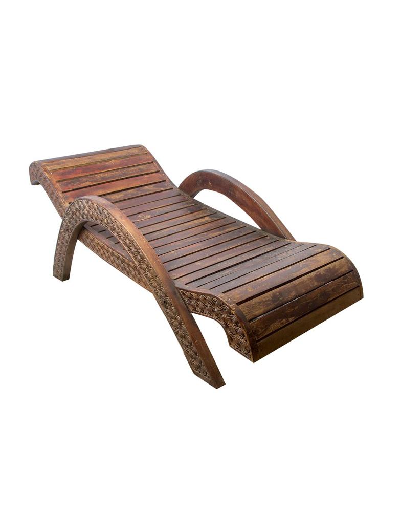 Silla asoleadora Balinesa en madera