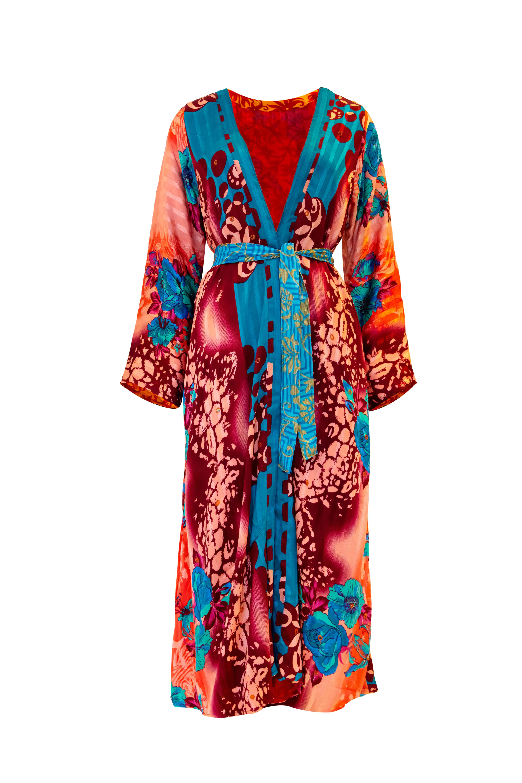 Indian silk kimono