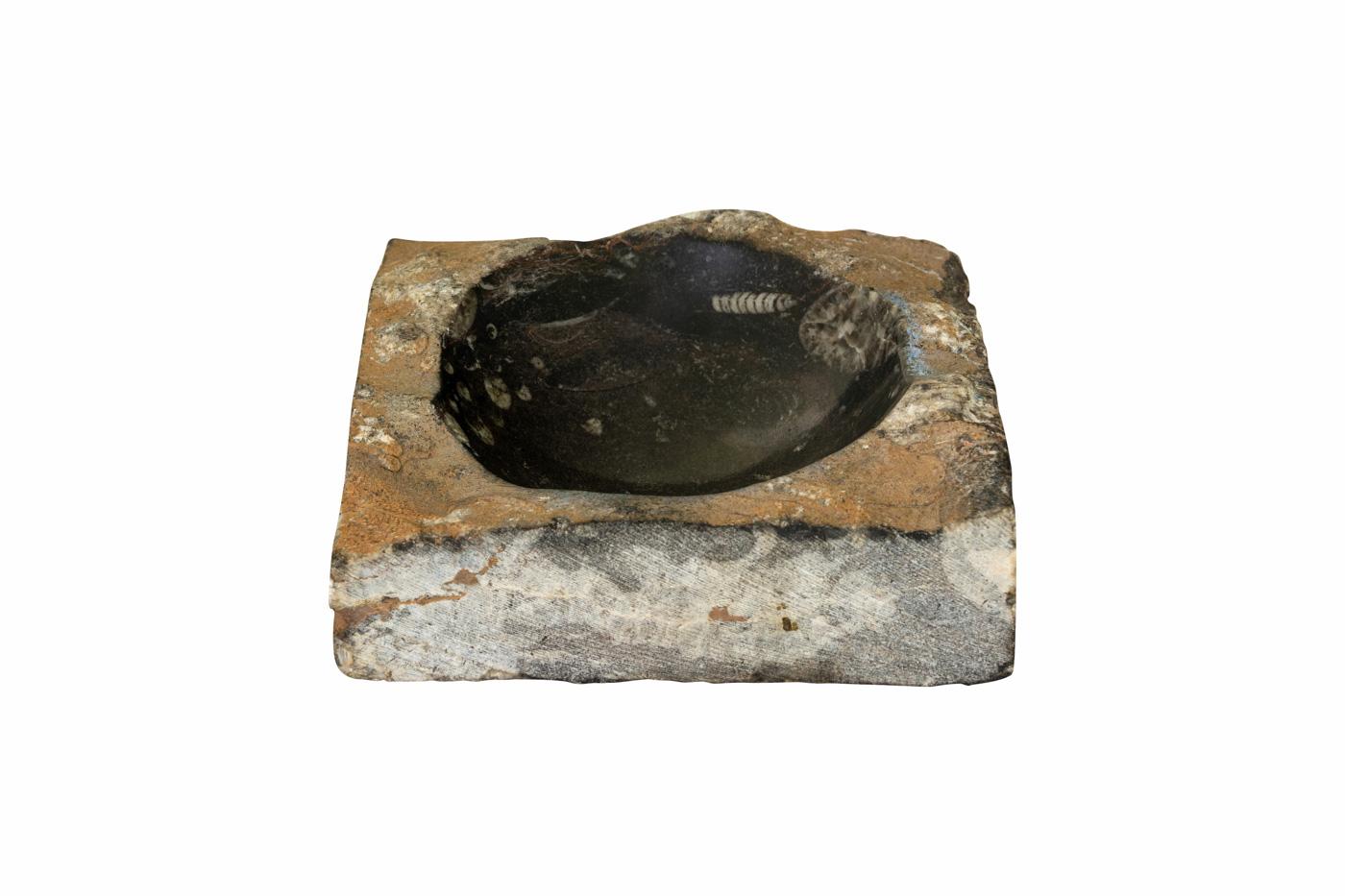 Moroccan fossilized ashtray