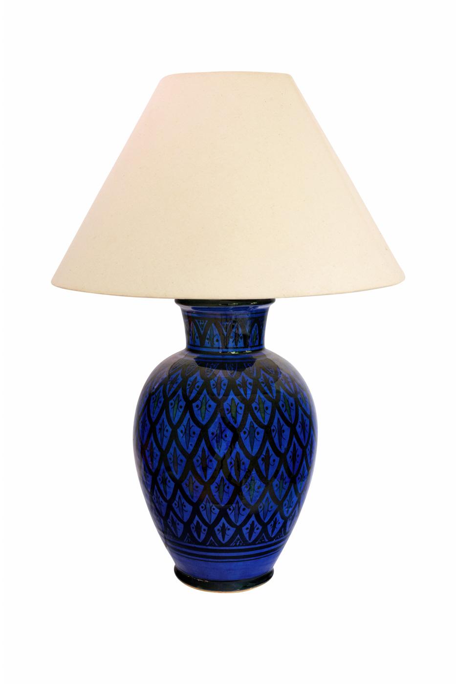 Lámpara de mesa Marroquí en cerámica pinatada