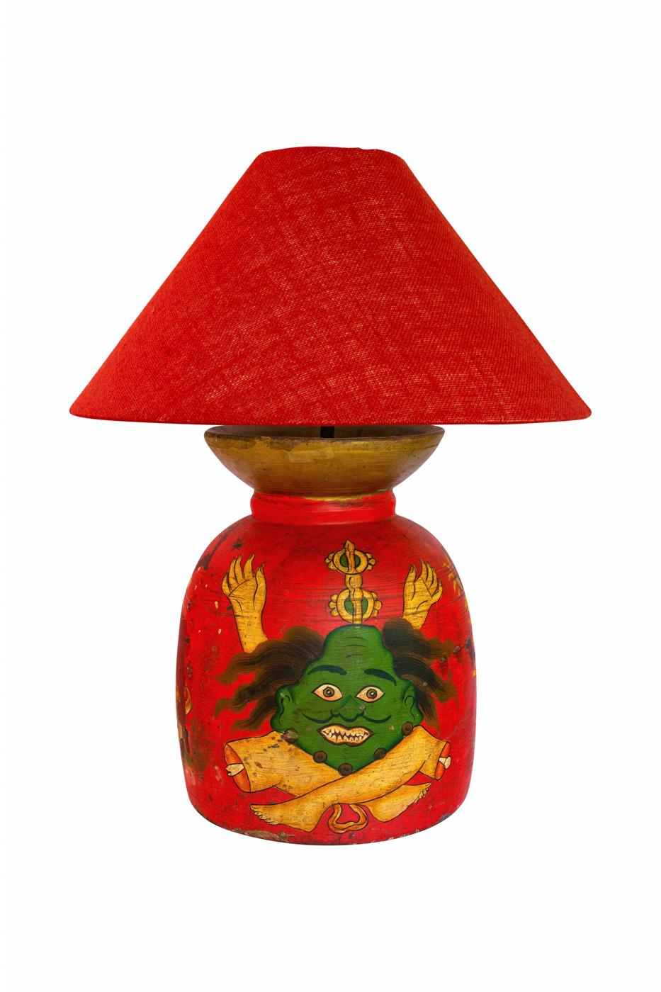 Lámpara de tinaja en madera