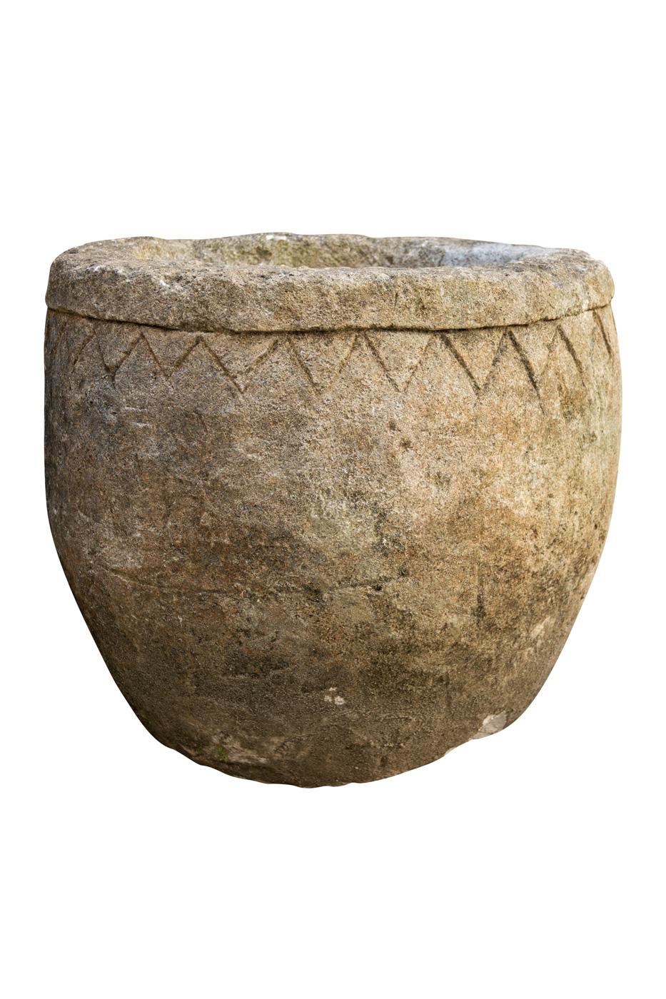 Matera de piedra Balinesa diseño rombos