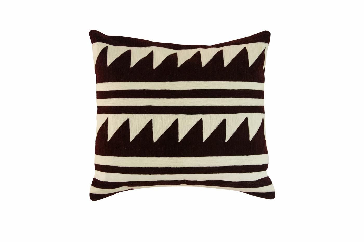 Nuba square cushion in cotton