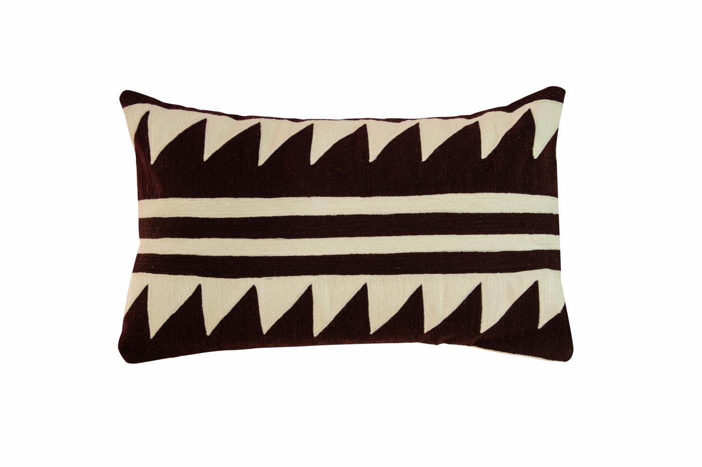Nuba rectangular cushion in cotton