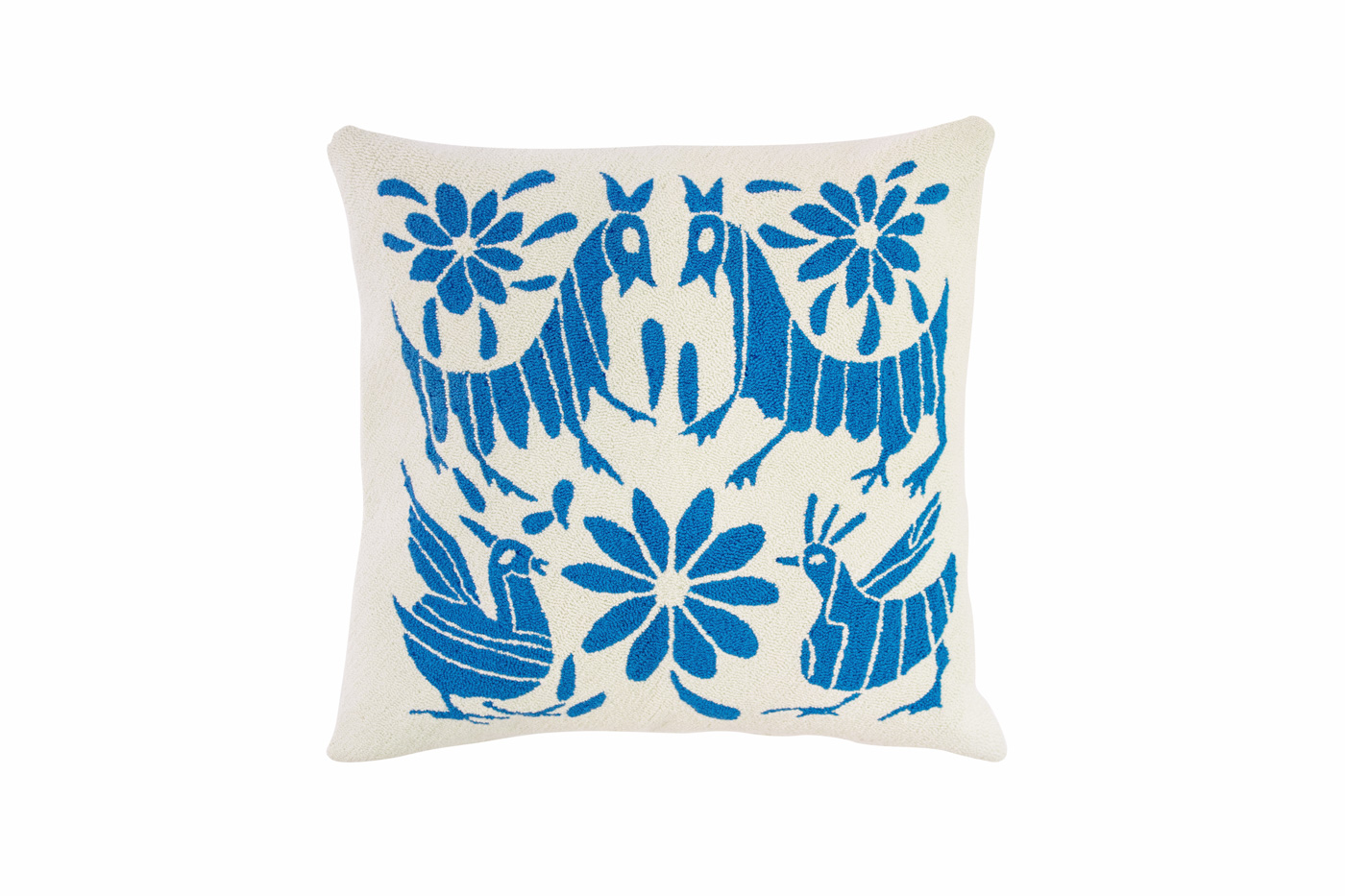 Puyao cushion Mexican birds blue