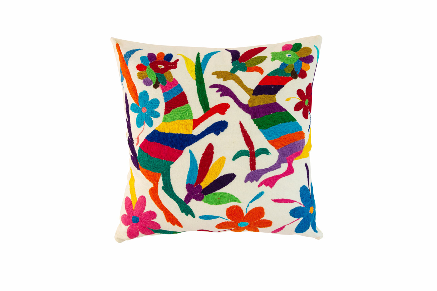 Otomi Mexican Alebrijes multicolor cushion