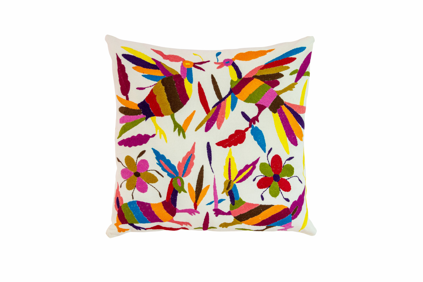 Otomi cushion multicolored birds