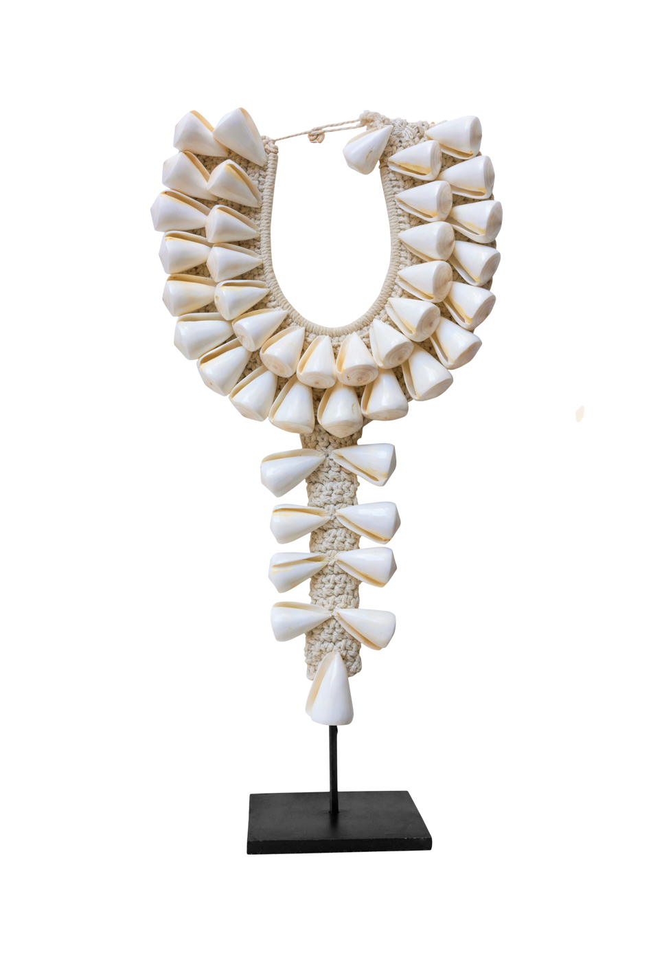 Decorative necklace with cone shells cone shells