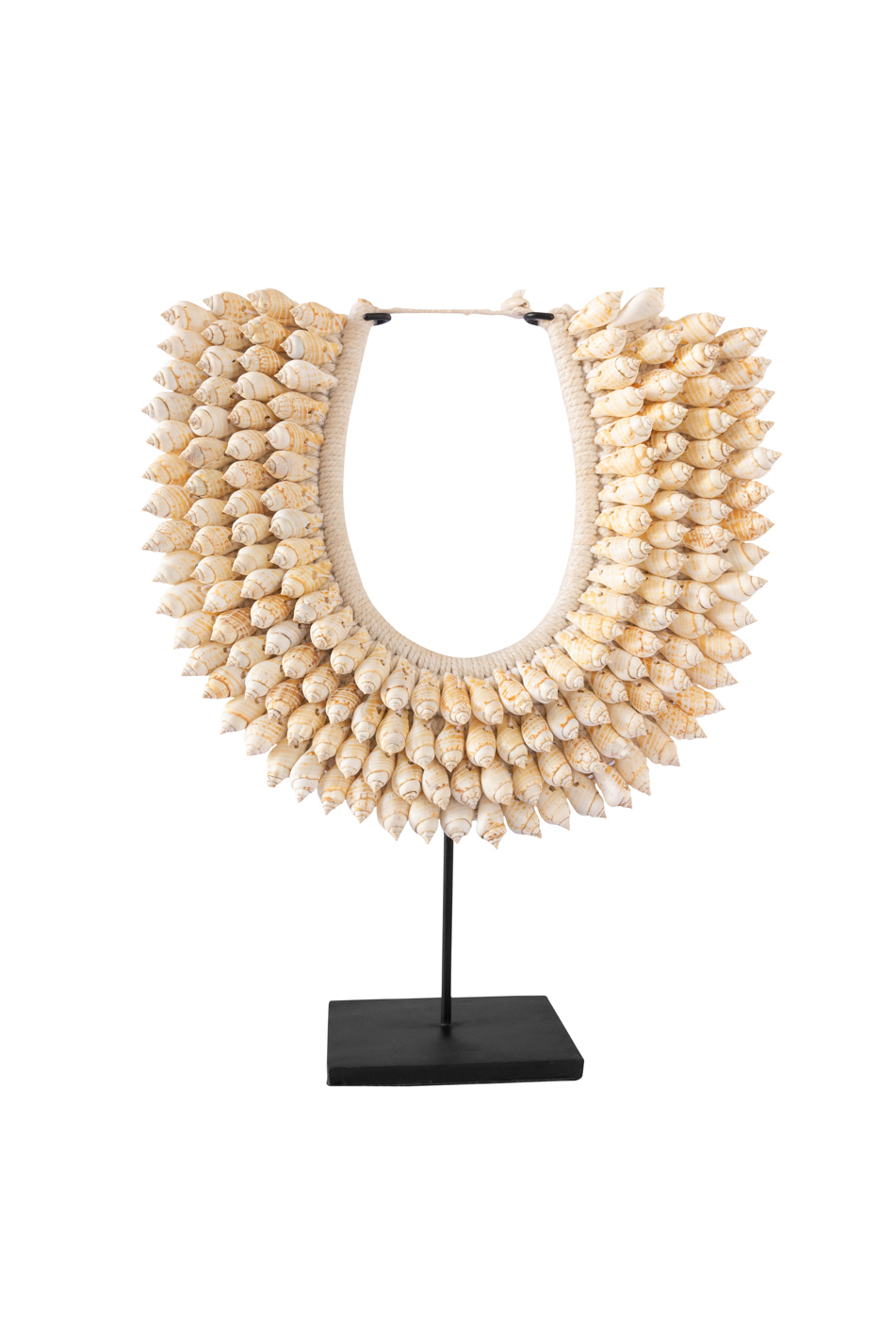 Decorative necklace with snail shells