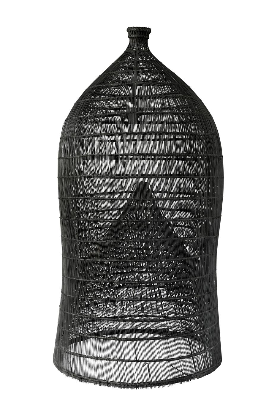 Lámpara Balinesa en bamboo estilo trampa camaronera