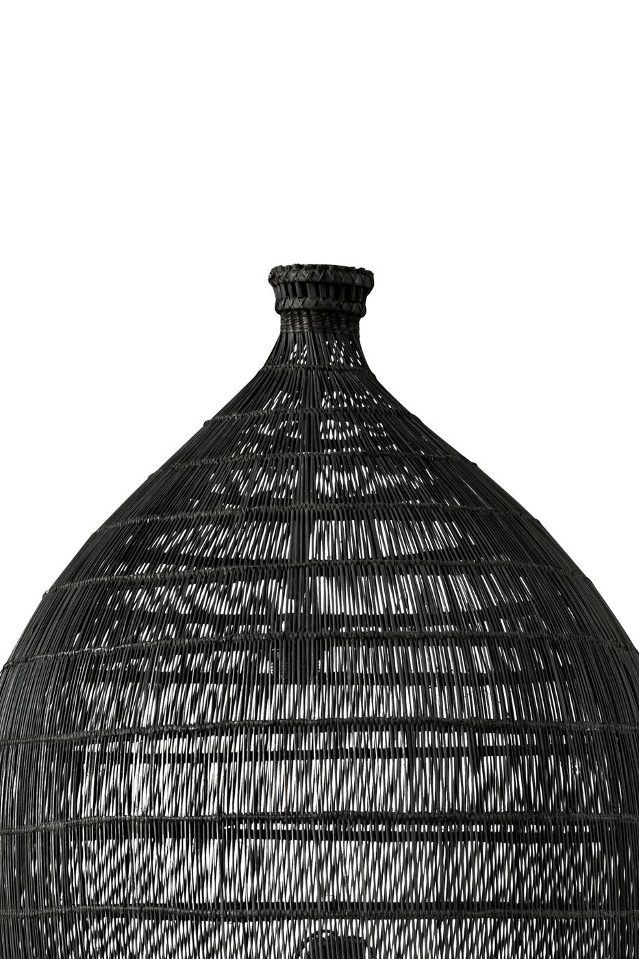 Lámpara colgante estilo camaronera en rattan-120 Cm
