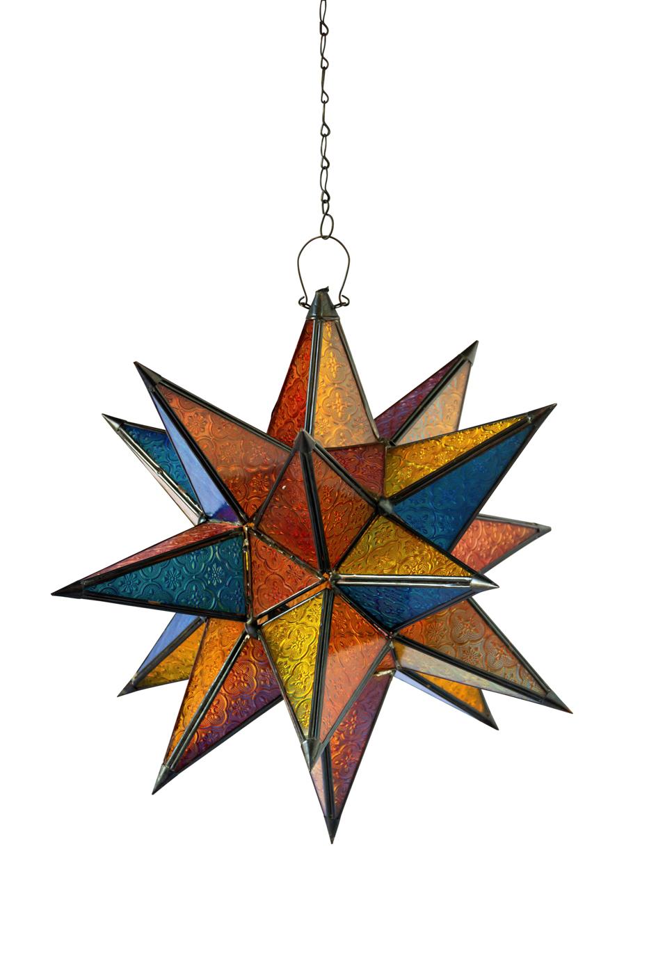 Lámpara Marroquí en forma de estrella