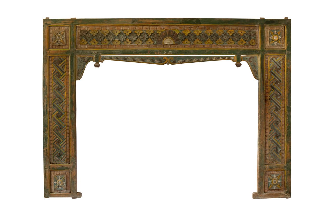 Balinese traditional bed headboard carved in wood