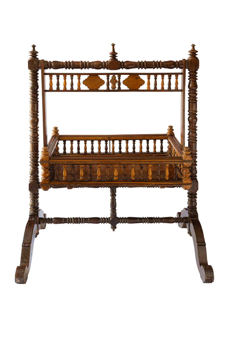 Traditional Indian wooden cradle