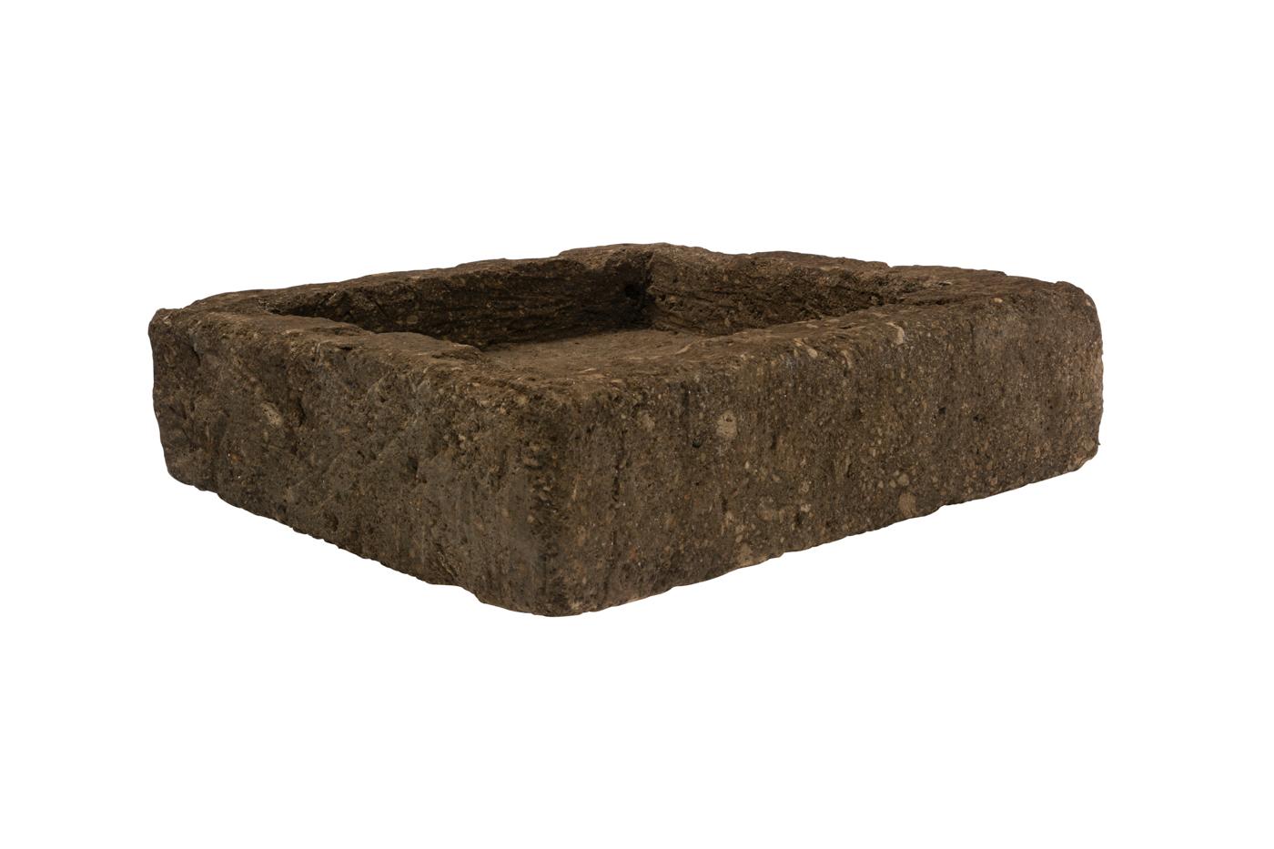 Square planter in natural stone