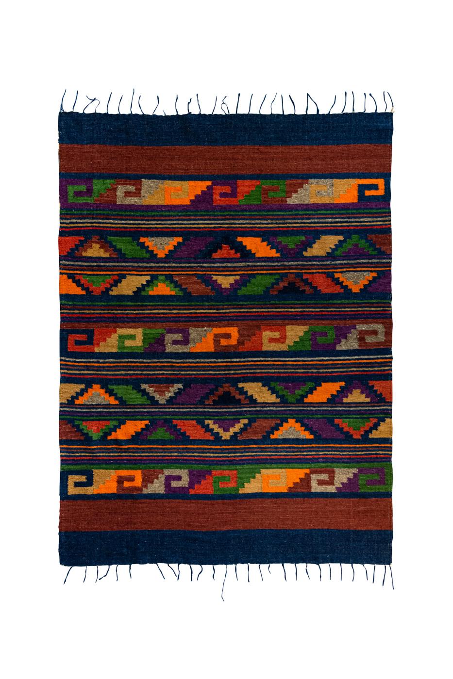 Kílim Marroquí en algodón con patrones geométricos