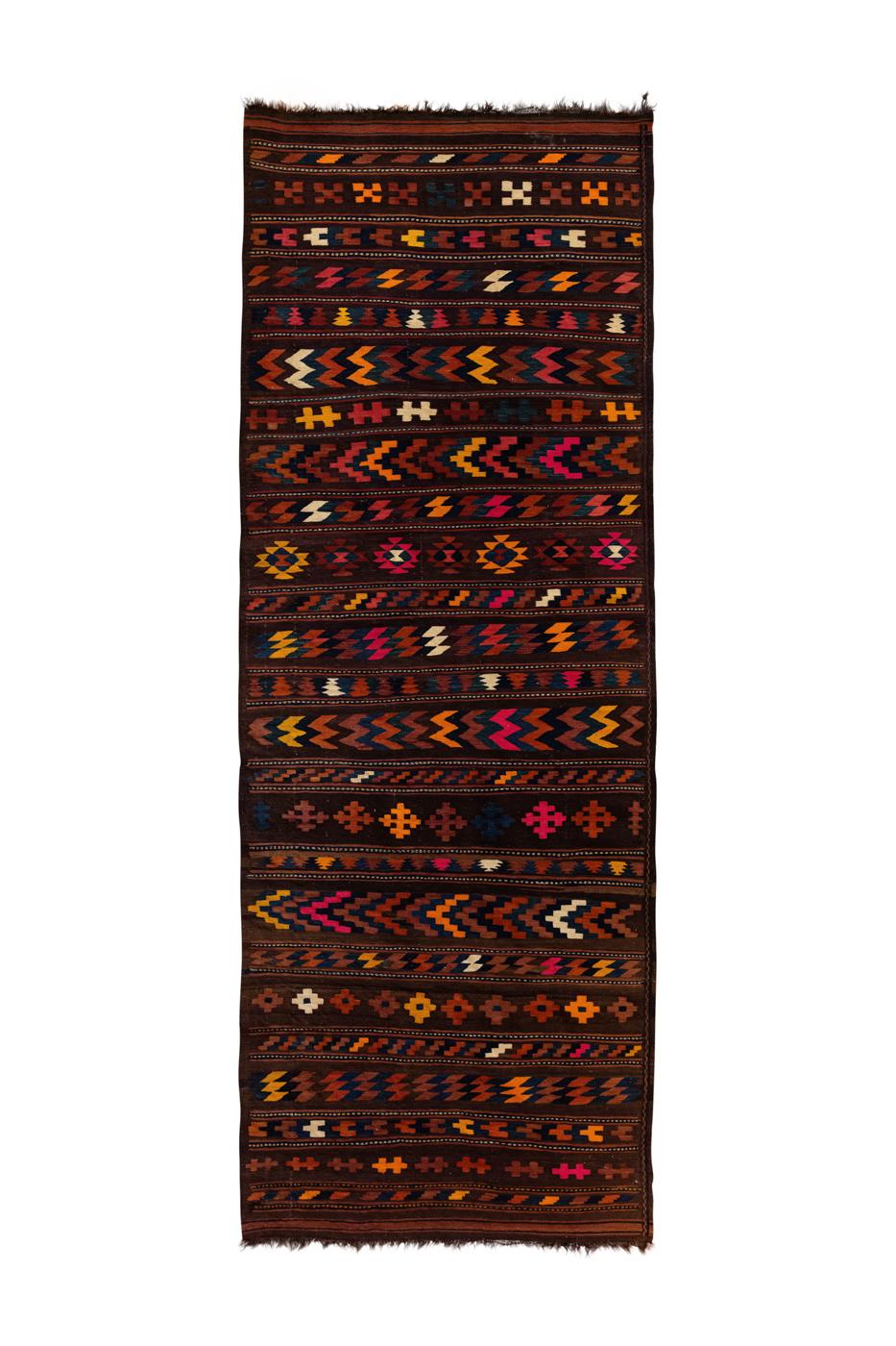 Kílim Marroquí en algodón con patrones tribales
