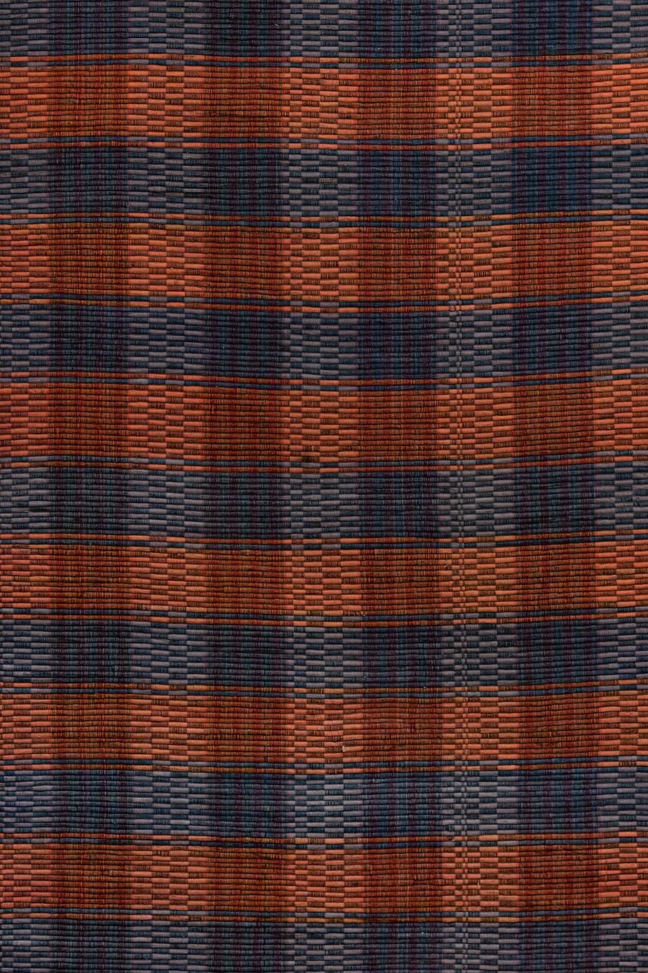 Tapete de algodón con patrones de cuadros, gris-rojo
