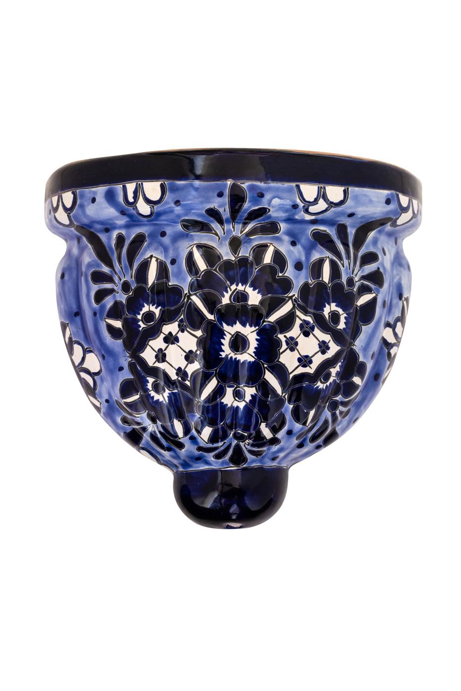 Aplique de pared en cerámica de Talavera