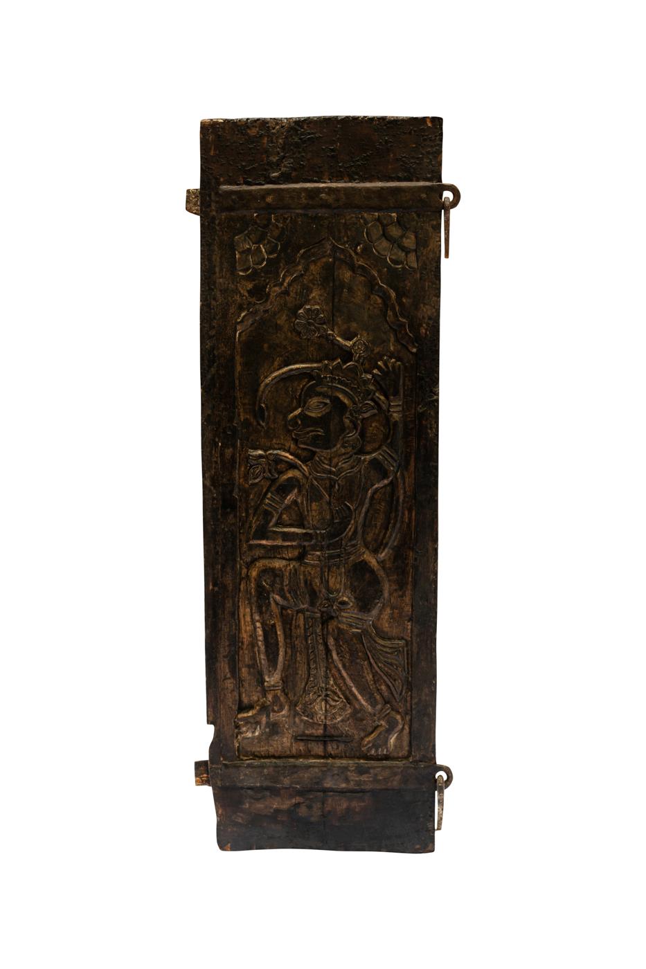 Puerta de madera tallada India
