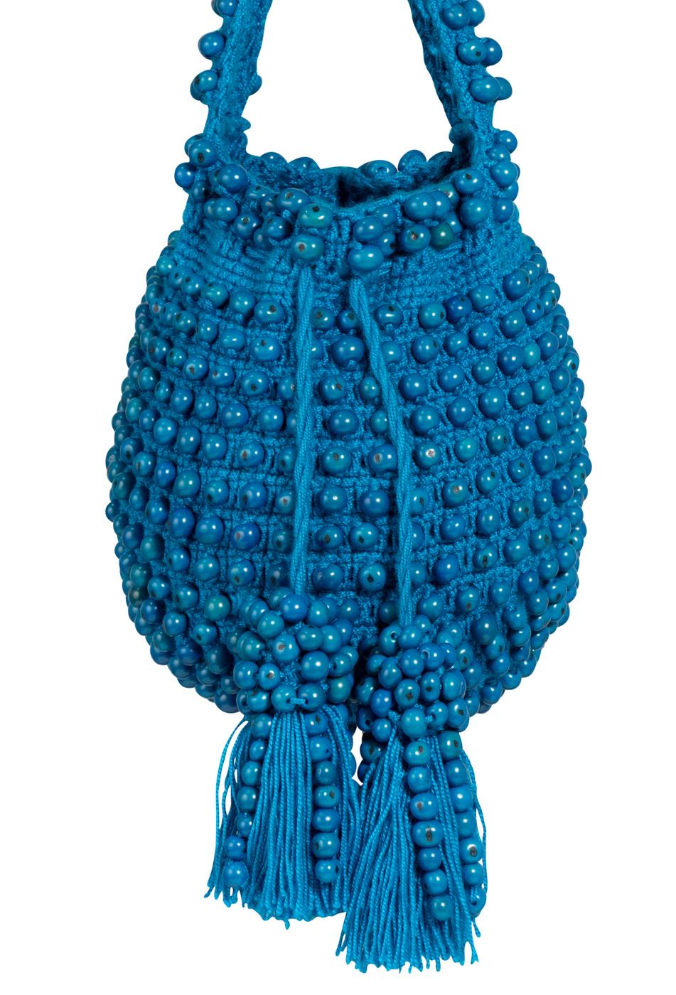 Mochila crochet tagua azul