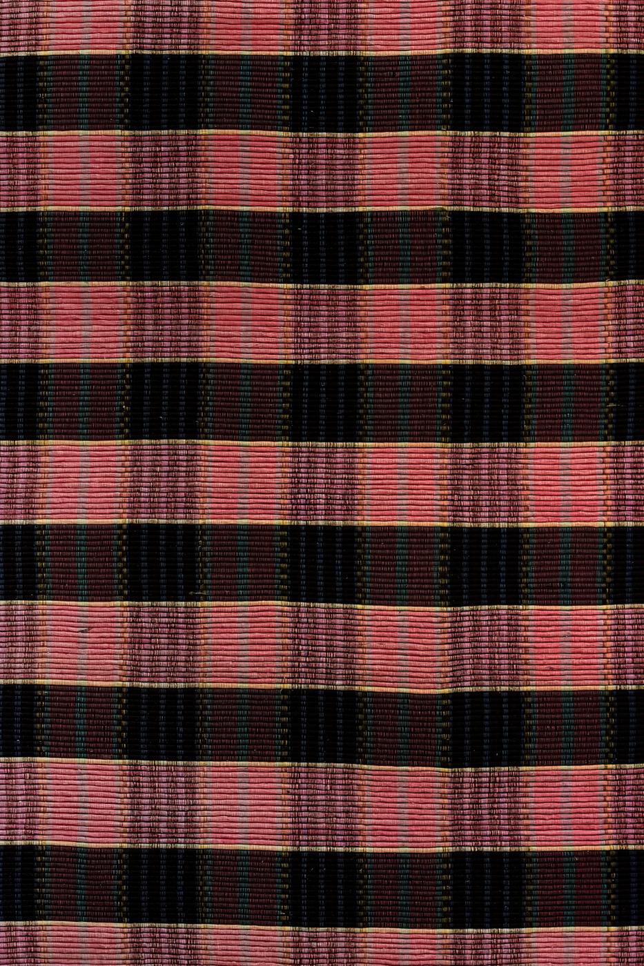 Tapete de algodón con patrones de cuadros-Rosa/Gris