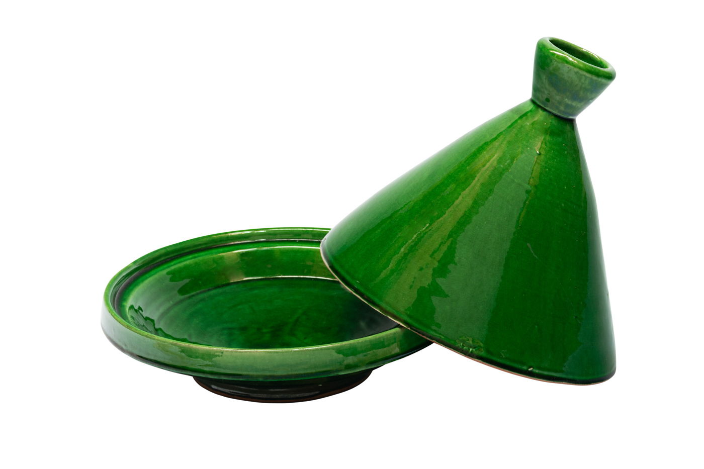 Tajín Marroquí en cerámica-Verde