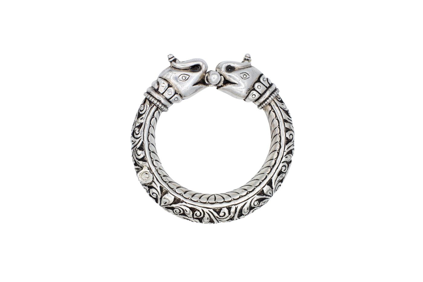 Bracelet in antique Indian silver