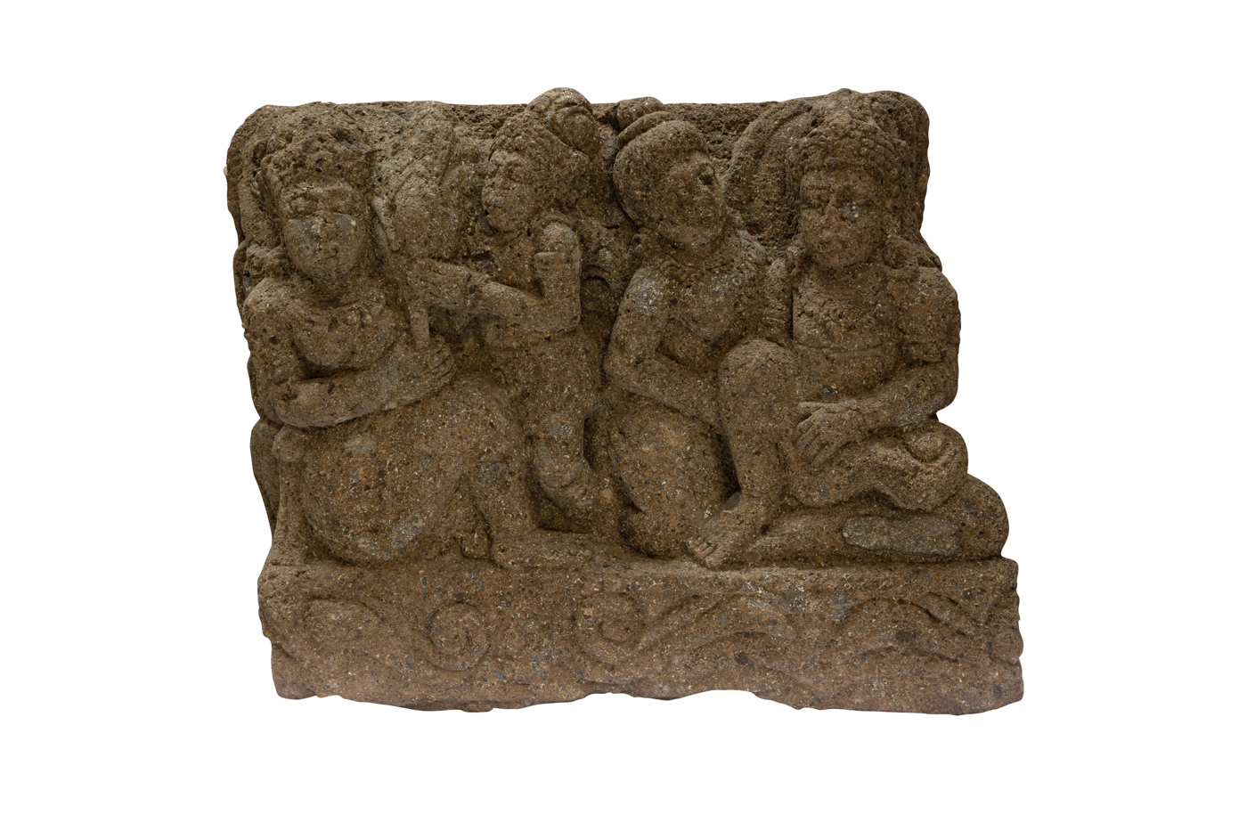 Panel de piedra tallado