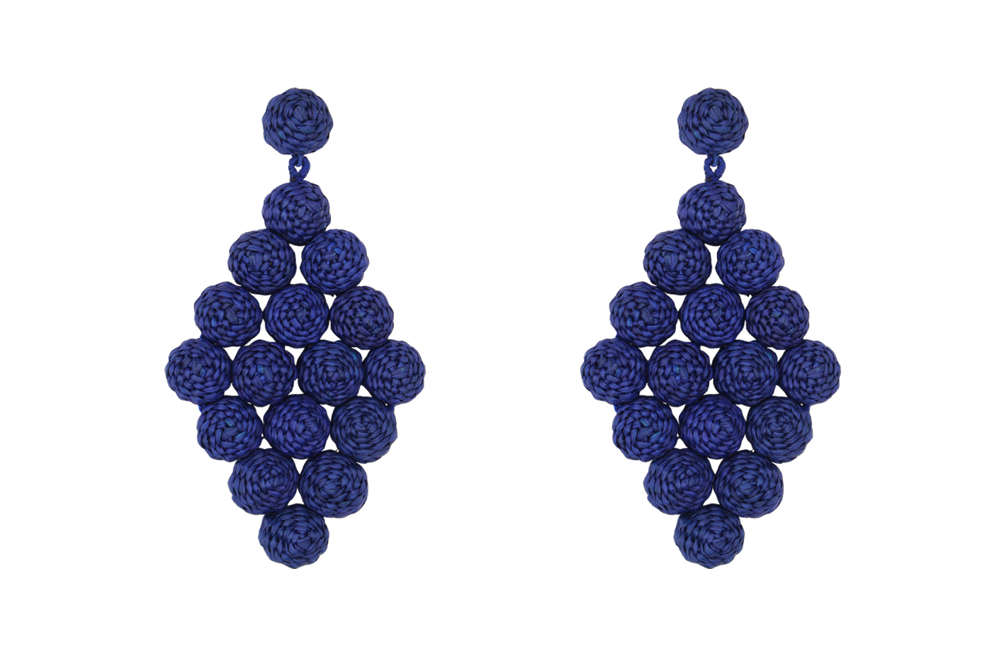 Aretes Rombo # 2-azul rey