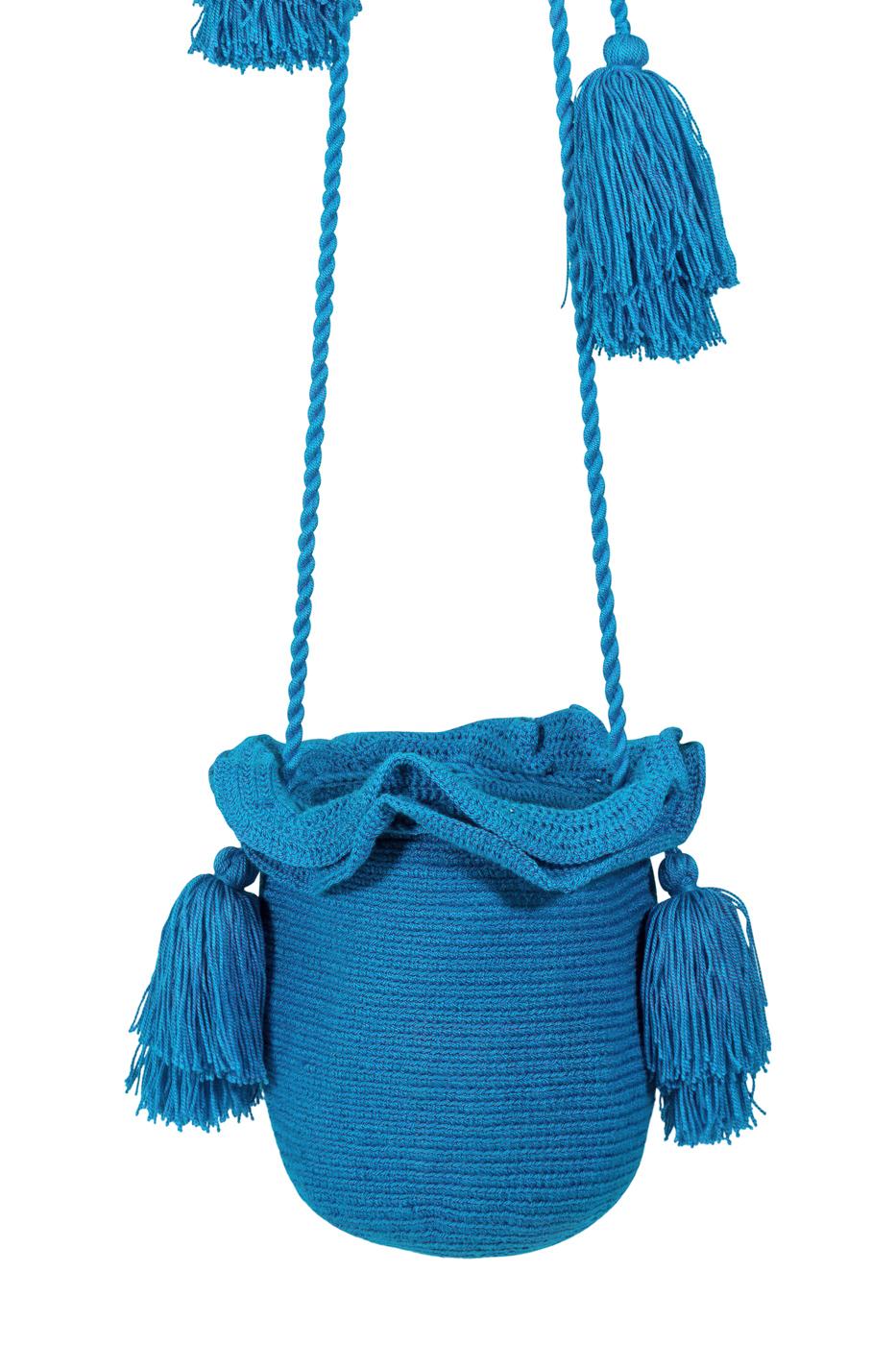 Mochila Guapa tubular azul jean