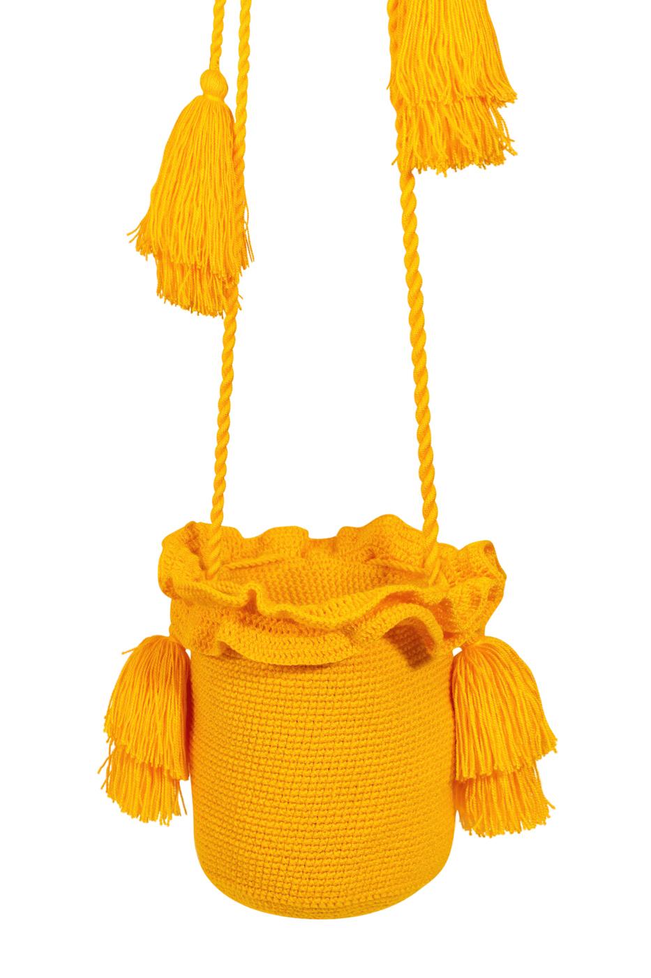 Mochila Guapa tubular amarilla