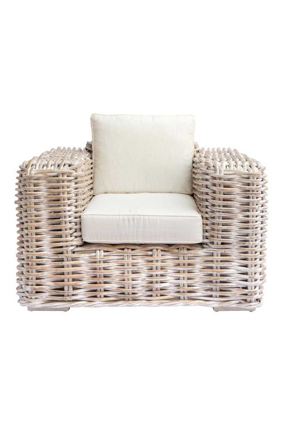 Cherbon rattan sofa - 1 Seat