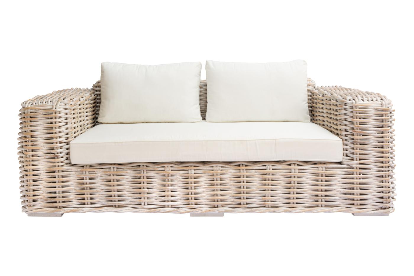 Sofa Cherbon in rattan - 2 Seat