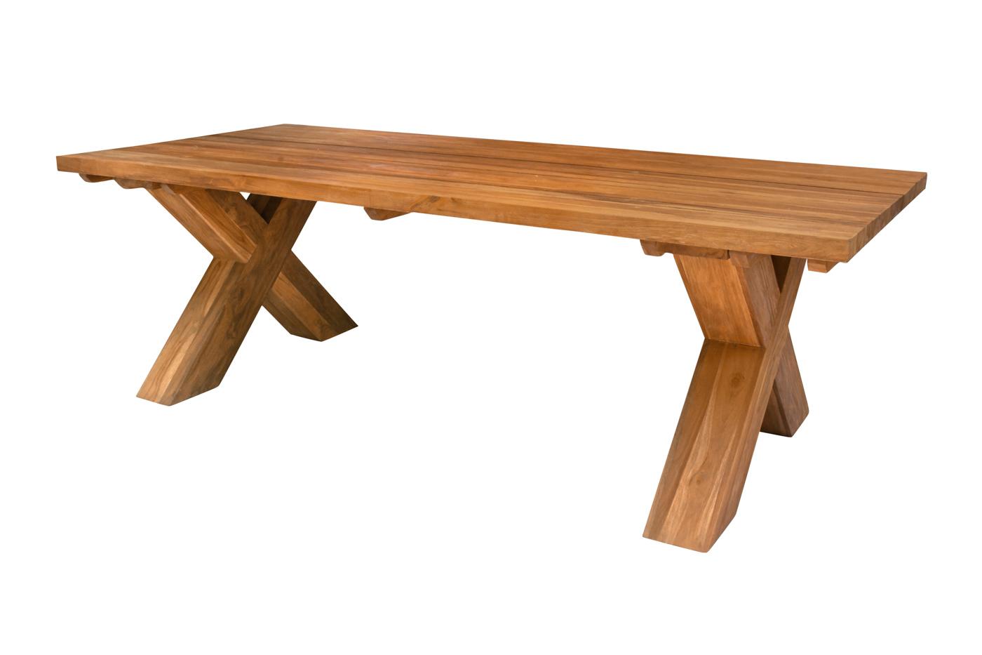 Mesa de comedor Tebal en madera teka natural