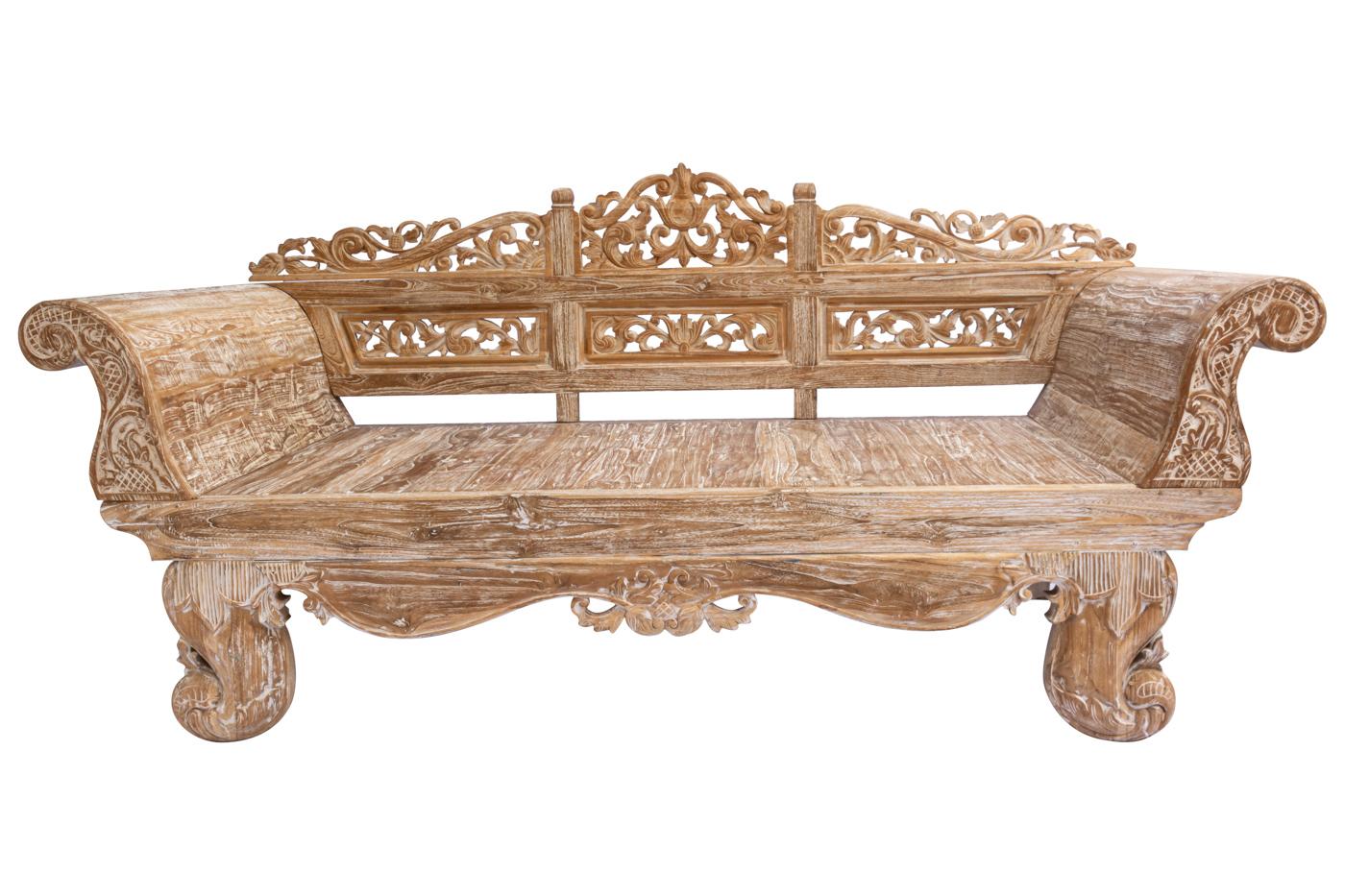 Banca Balinesa en madera teka