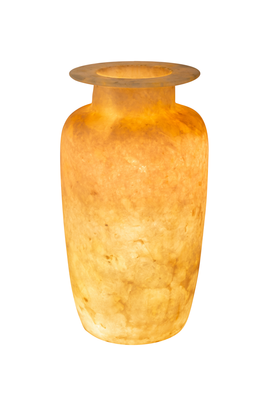 Jarrón de alabastro Egipcio, 40 Cm