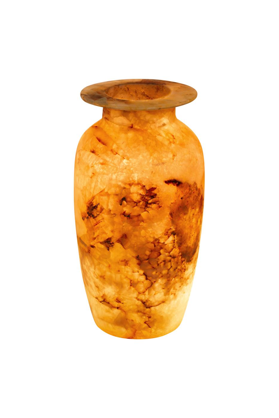 Jarrón de alabastro Egipcio, 33 Cm
